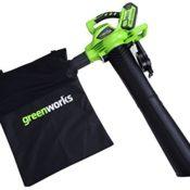 Der Greenworks Laubsauger - ein Kombigerät aus Laubsauger und Laubbläser